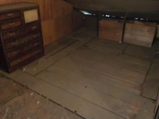 屋根裏物置のアフター