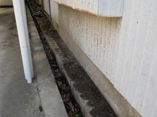 家左側の外周のアフター