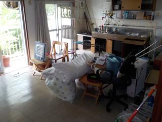 (部屋1)部屋1のリビングキッチンのビフォア