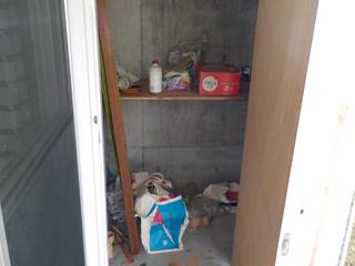 (部屋1)ベランダ物置のビファア