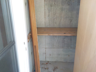 (部屋1)ベランダ物置のアフター