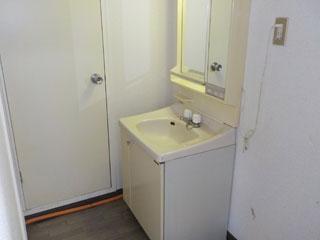 洗面洗濯場のアフター