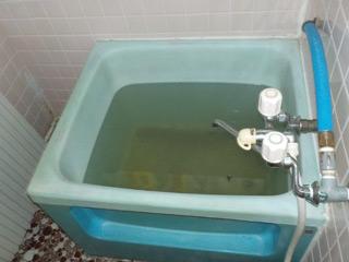 部屋1浴槽のビフォア