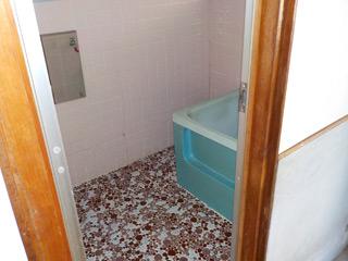 部屋2の浴室のアフター