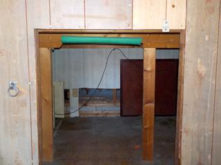 倉庫入口のアフター
