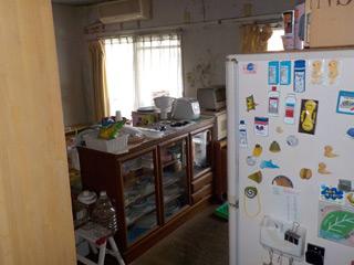 キッチンリビングのビフォア