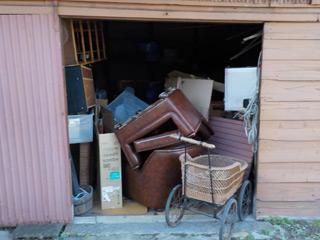 倉庫1正面のビフォア