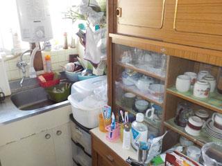 家2キッチンのビフォア