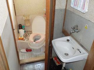 洗面トイレのビフォア