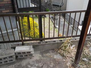 庭のアフター