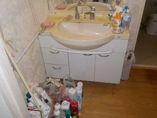 洗面のビフォア