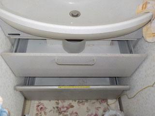 洗面下のアフター