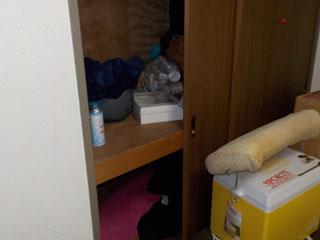 部屋1の押入れのビフォア