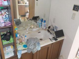 洗面台のビフォア