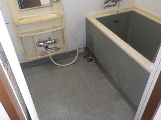 浴室の撤去後