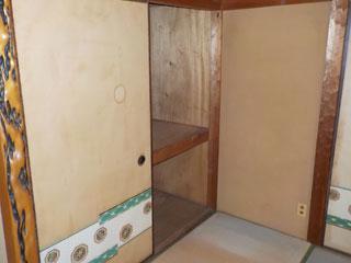 部屋3の押入れのアフター