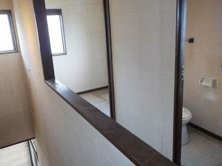 2階納戸前のアフター