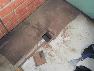 床撤去の風景